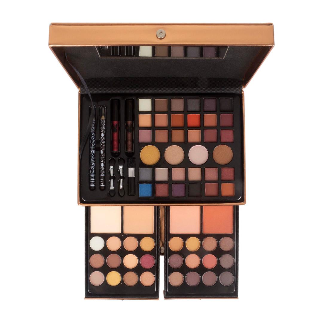 Maleta de Maquiagem Rosê Gold Playboy - HB9467
