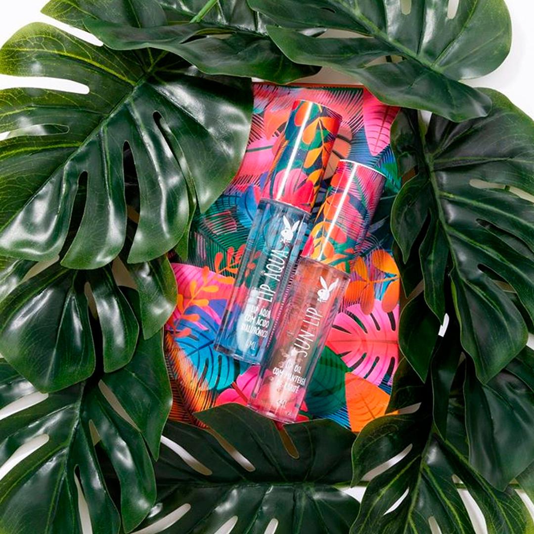 Kit Hidratante Labial Tropicália Playboy - PB5014