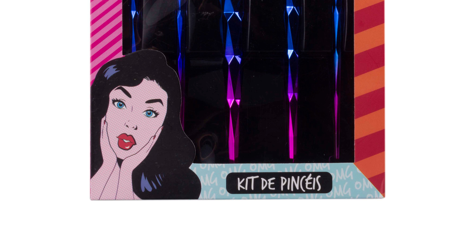 Kit de Pincéis com 5 Peças Dapop - HB97089 (3)