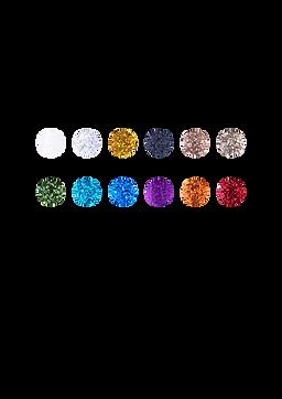 Pigmento em Glitter Dapop Cores - HB96674
