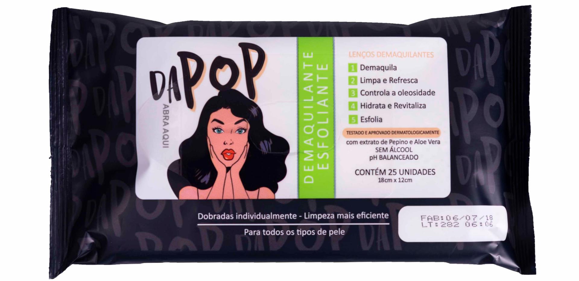 Lenço Demaquilante Esfoliante Dapop - PB2001