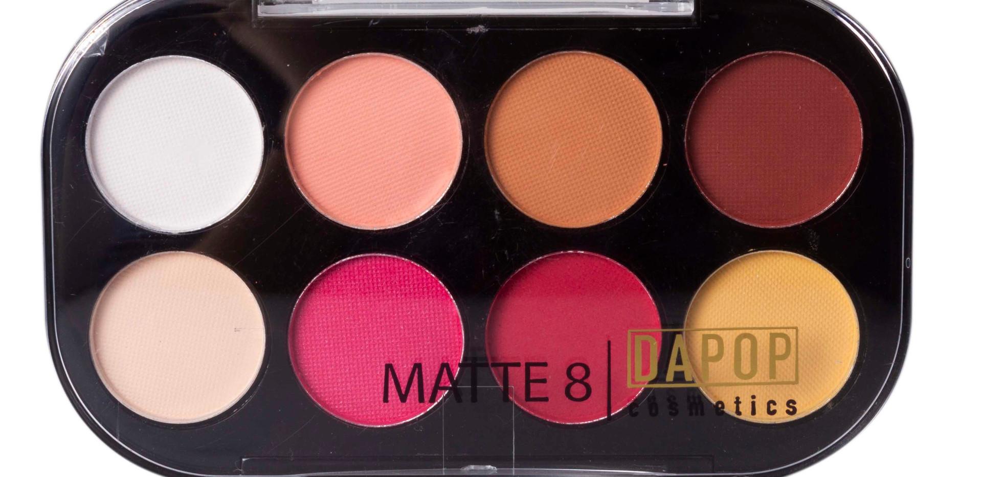Paleta de Sombras Matte 8 Cores Dapop - HB96624