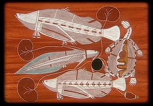 Aboriginal fish and turtle art