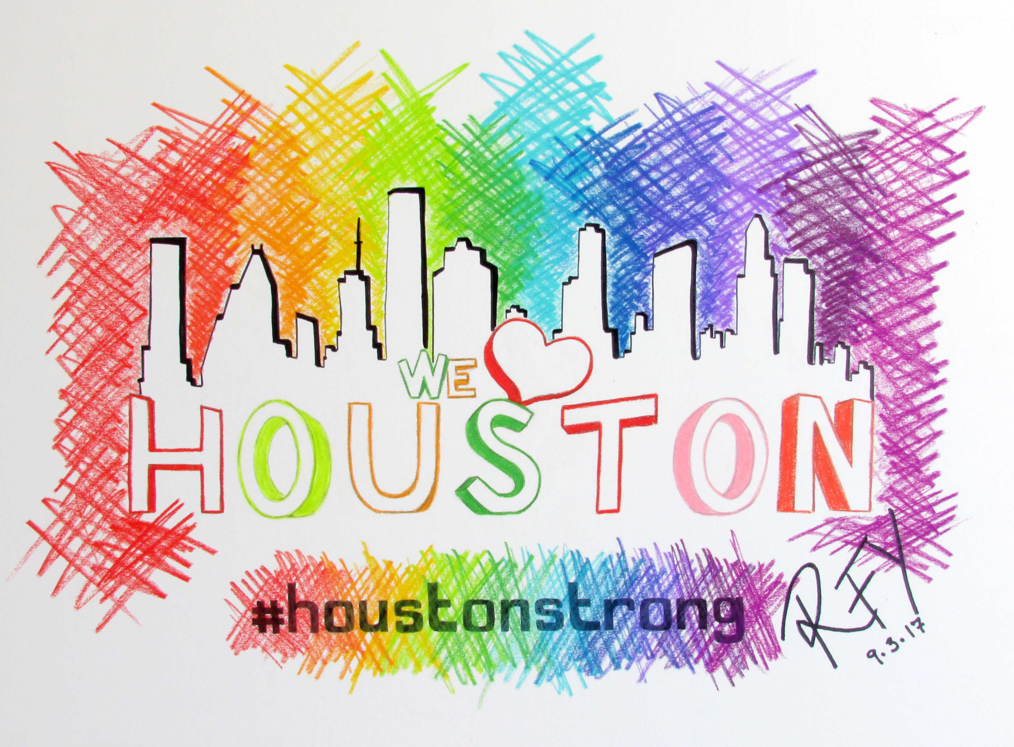 Houston Strong Drawing