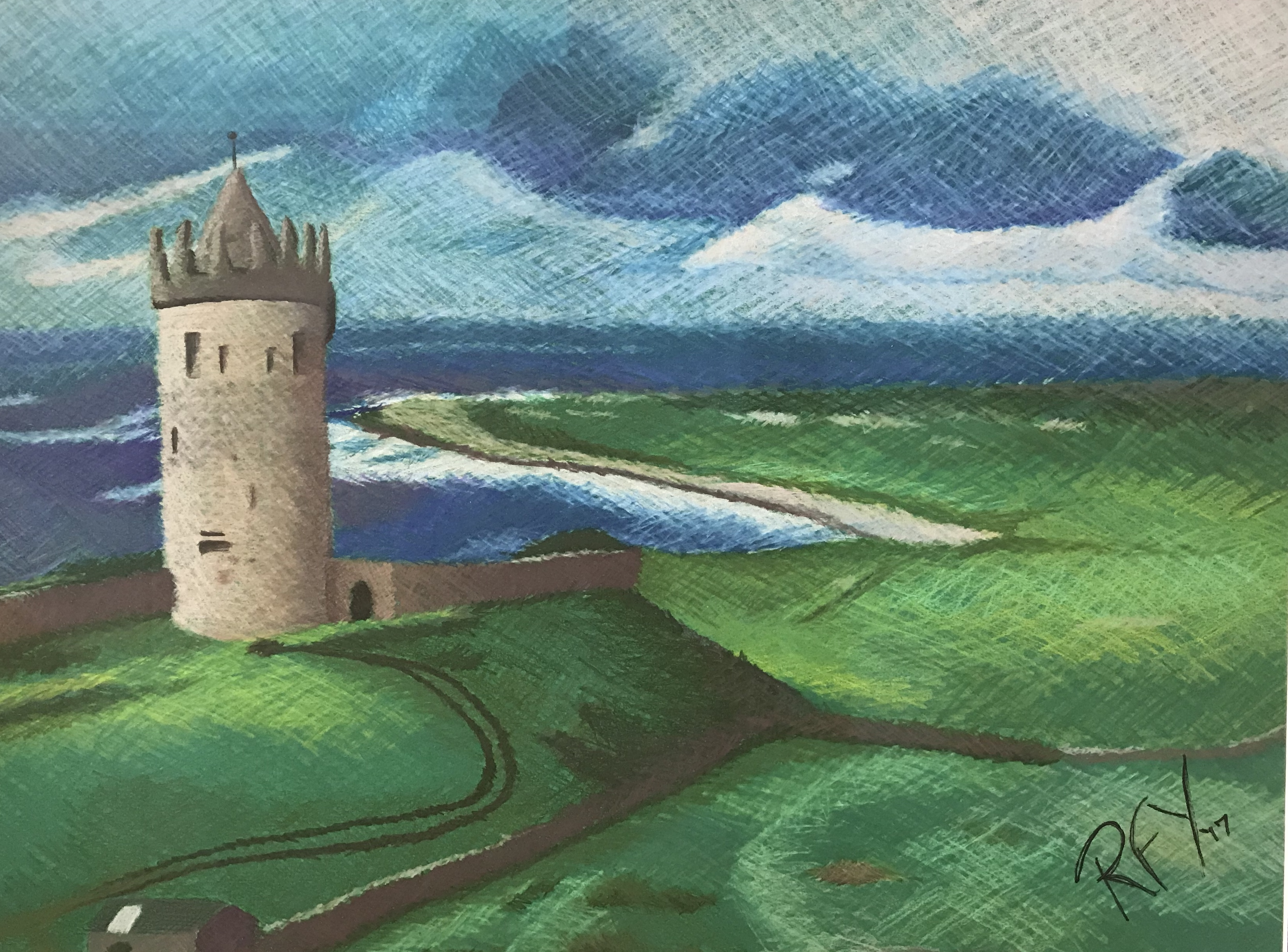 Irish Landscape Drawing
