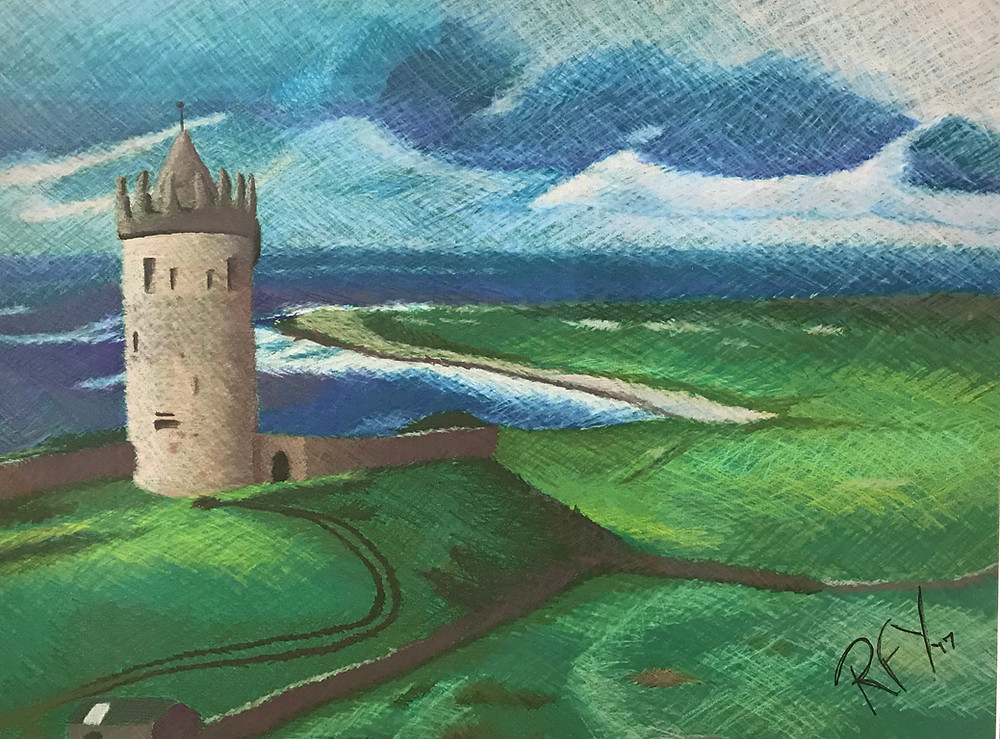 Drawing of Ireland by Reema F Yeager