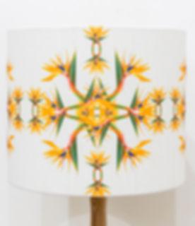 bird of paradise lampshade nature inspired design lake district cumbria
