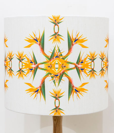 bird of paradise lampshade nature inspired design lake district cumbria