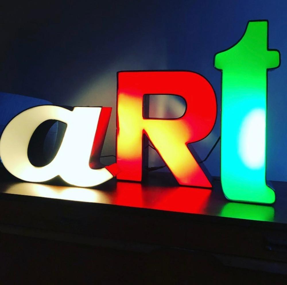 art vintage illuminated letter lights