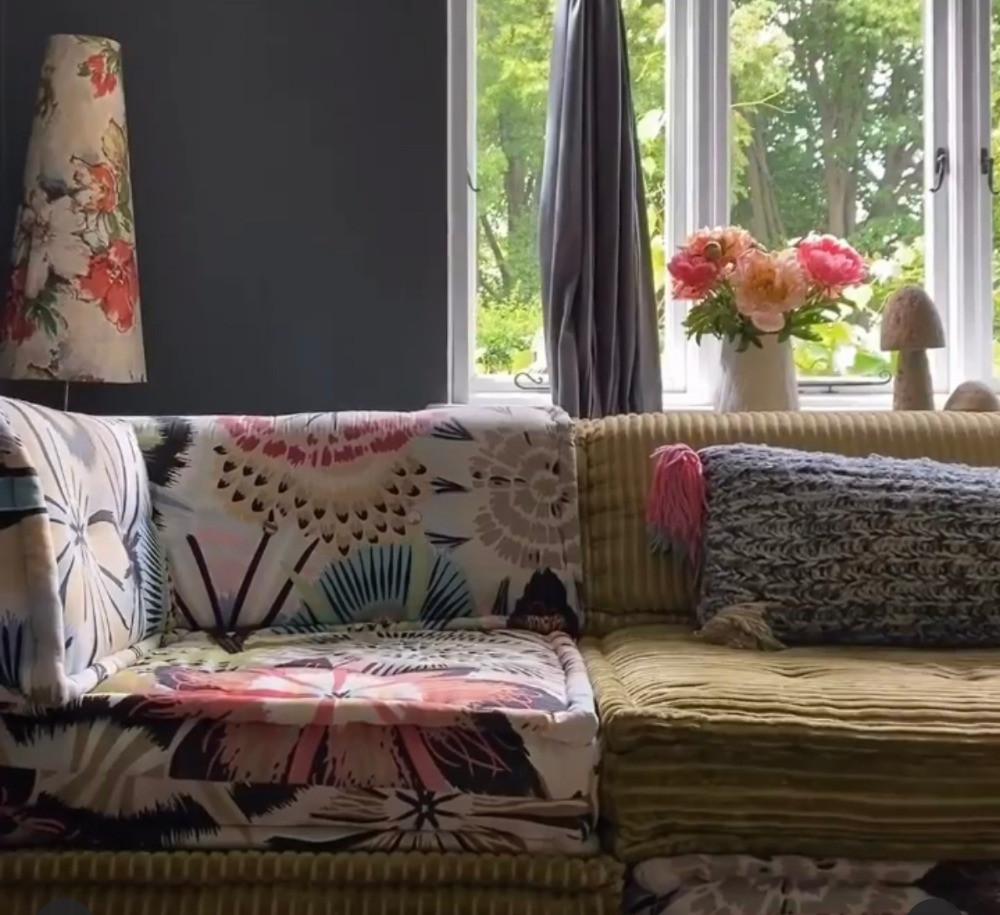 pattern colour mix floral plain bold interiors inspiration fabric textiles