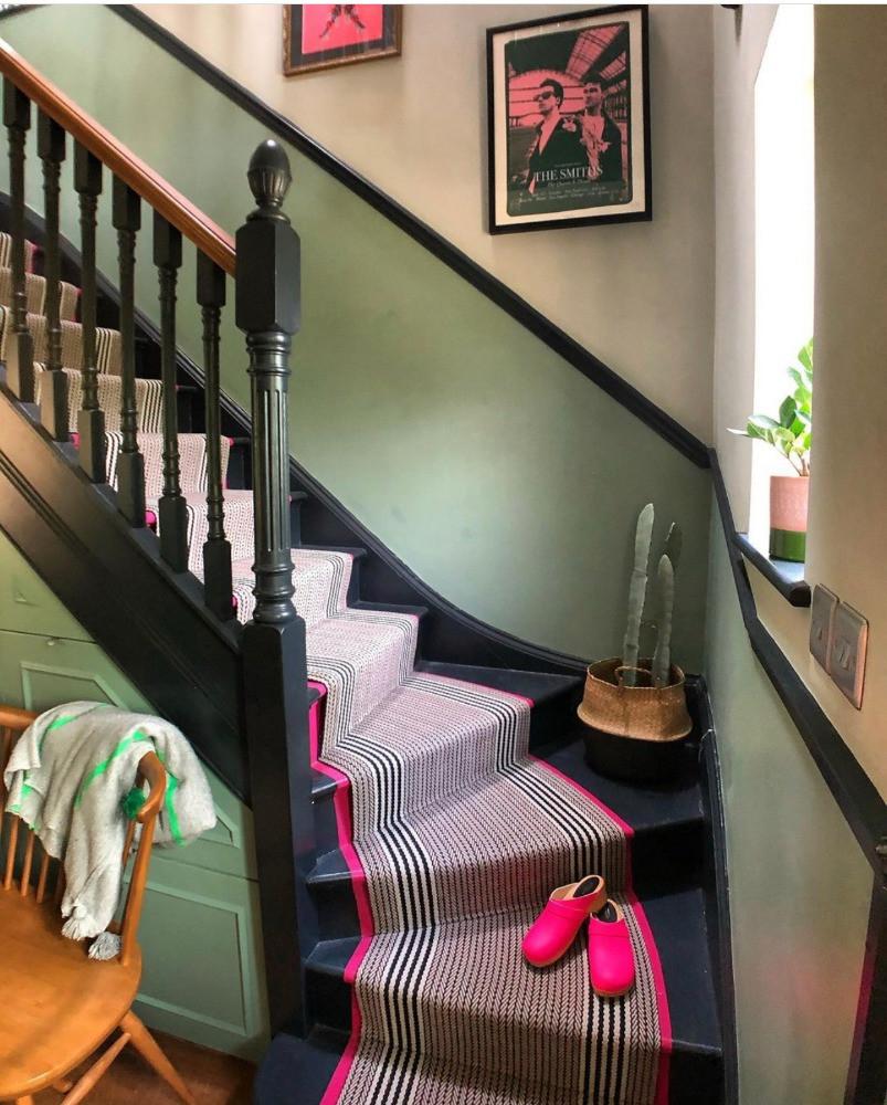 pink stair runner carpet