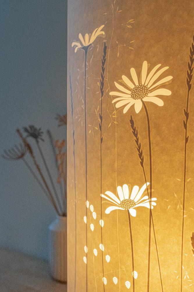 daisy papercut floor lamp