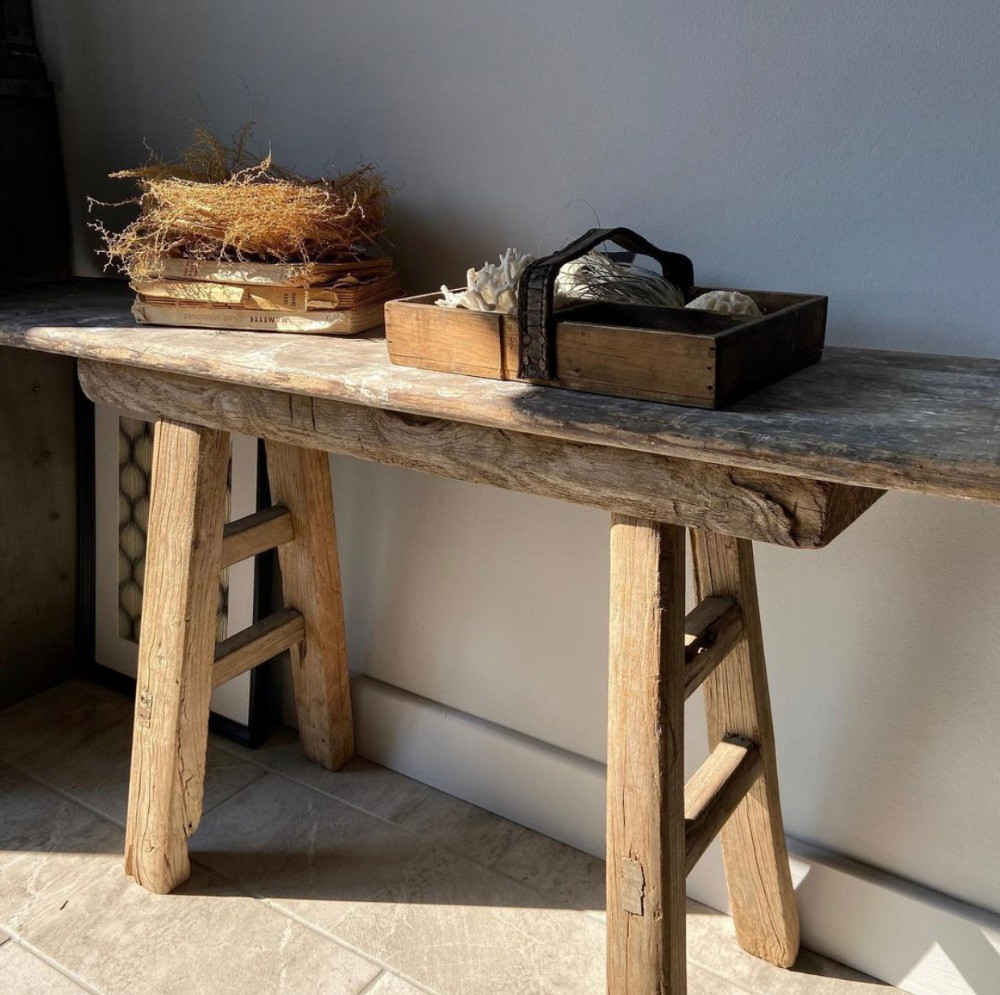 scratch made bench stool vintage