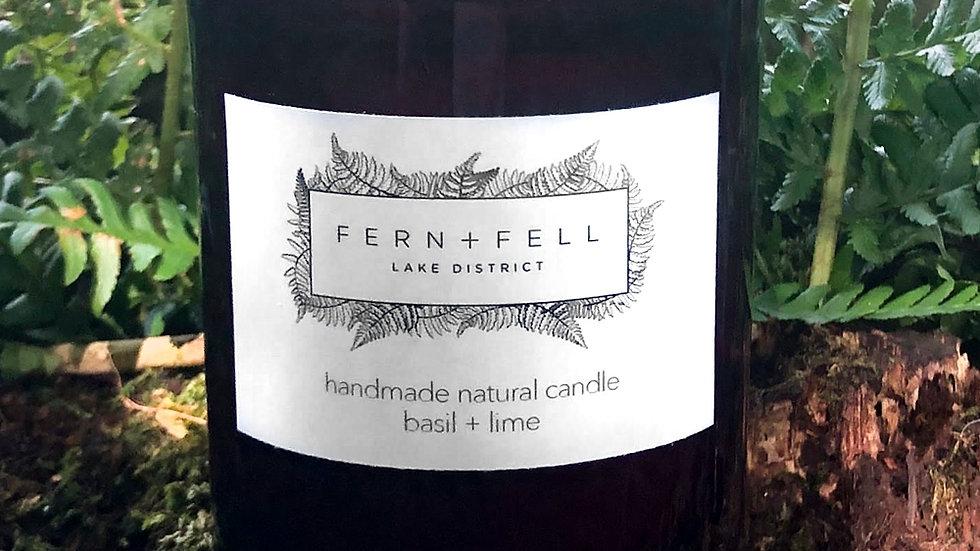 basil + lime candle