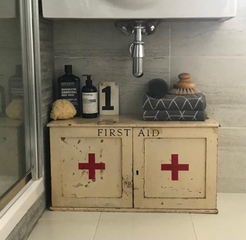 vintage first aid cabinet bathroom accessories