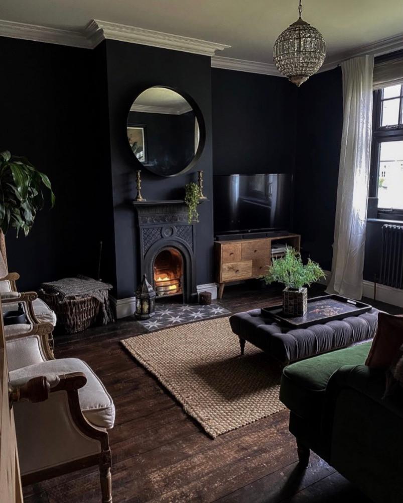 dark sitting room edwardian house vintage style preloved furniture vintage finds