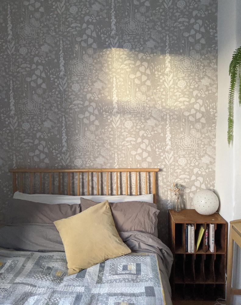 hedgerrow wallpaper in bedroom nature inspired design