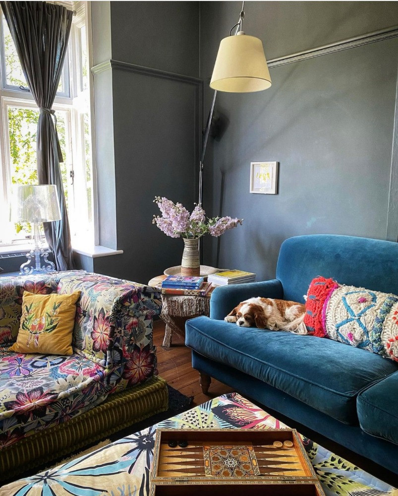 colour palette reflected throughout the house