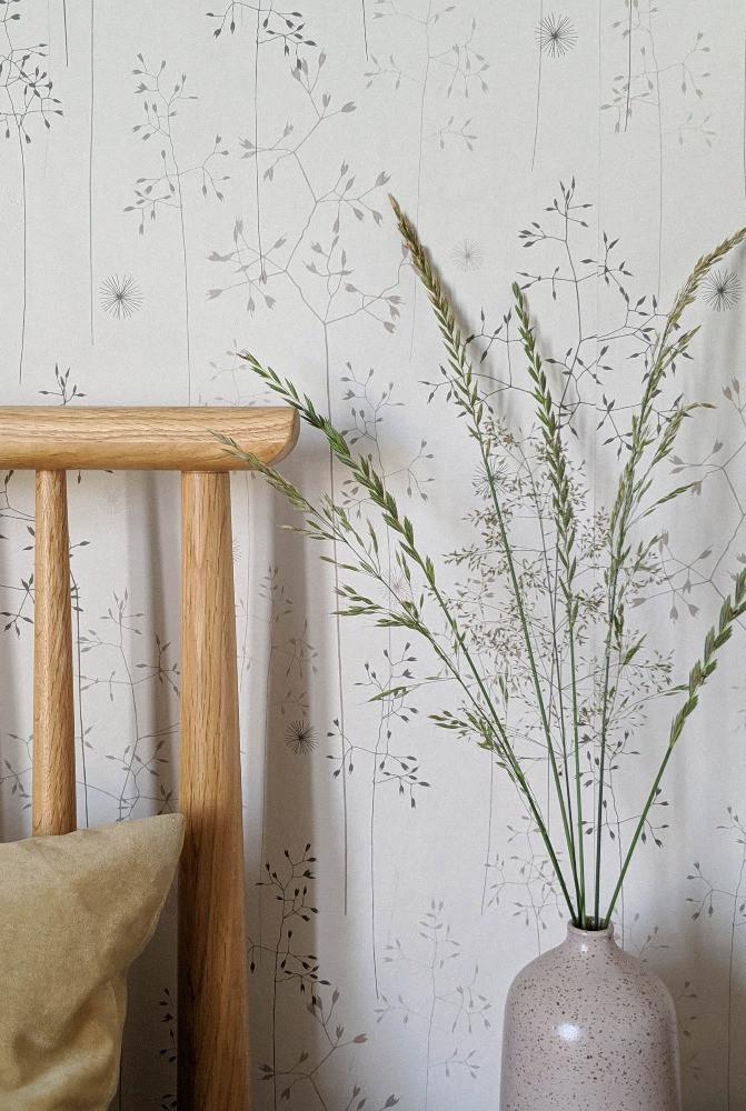 meadow grass wallpaper design nature inspired pattern interiors