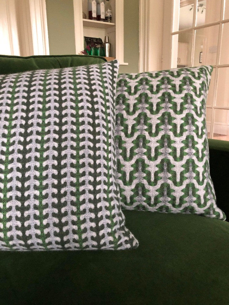 fern pylon cushion designs lambswool hand woven fabrics sally weatherrll for living room