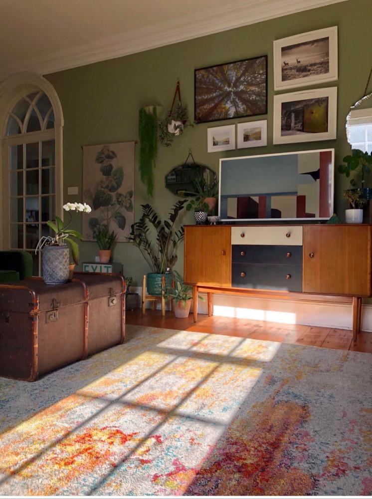 celestial sealife rug the rug seller watercolour abstract design