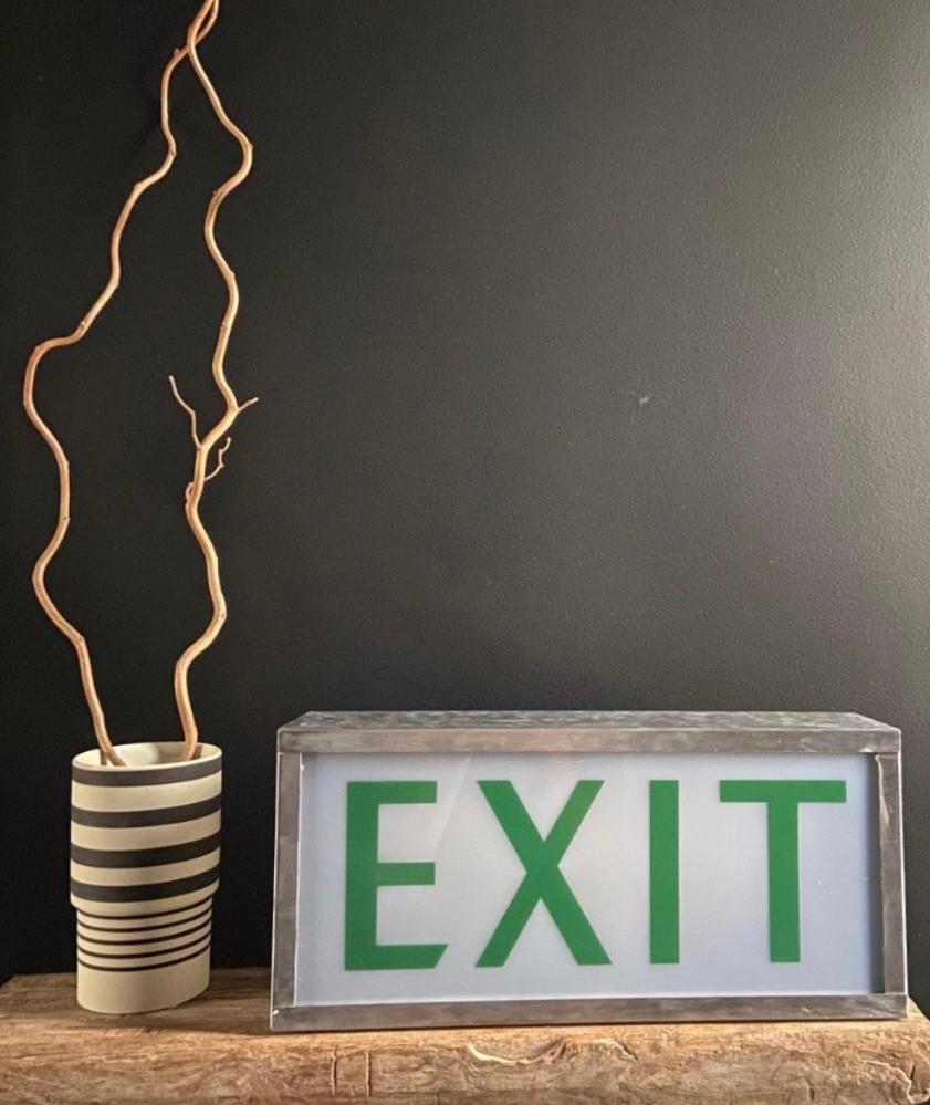 vintage EXIT safety light