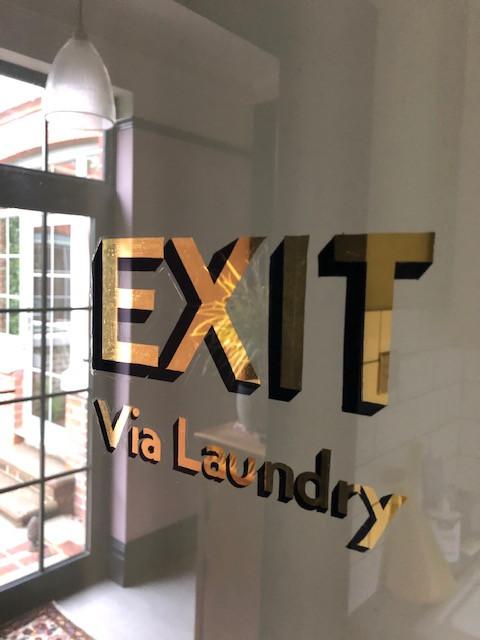exit sign door typography