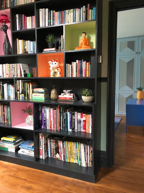 colour pop bookshelves