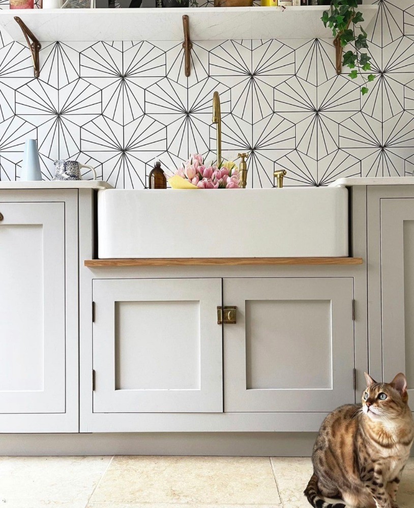 lilypad tiles belfast sink kitchen decor inspiration