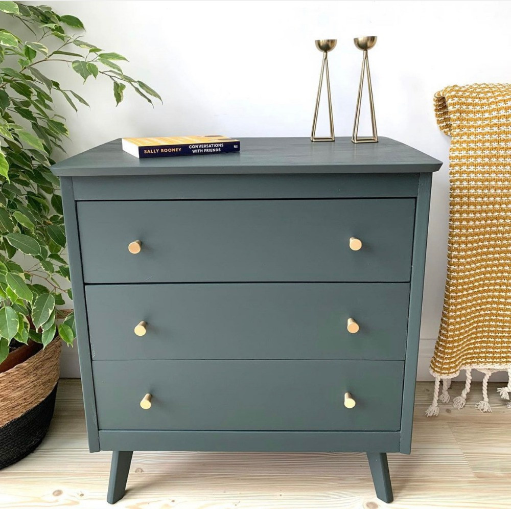 up-cycled 1950s chest of drawers mid century vintage