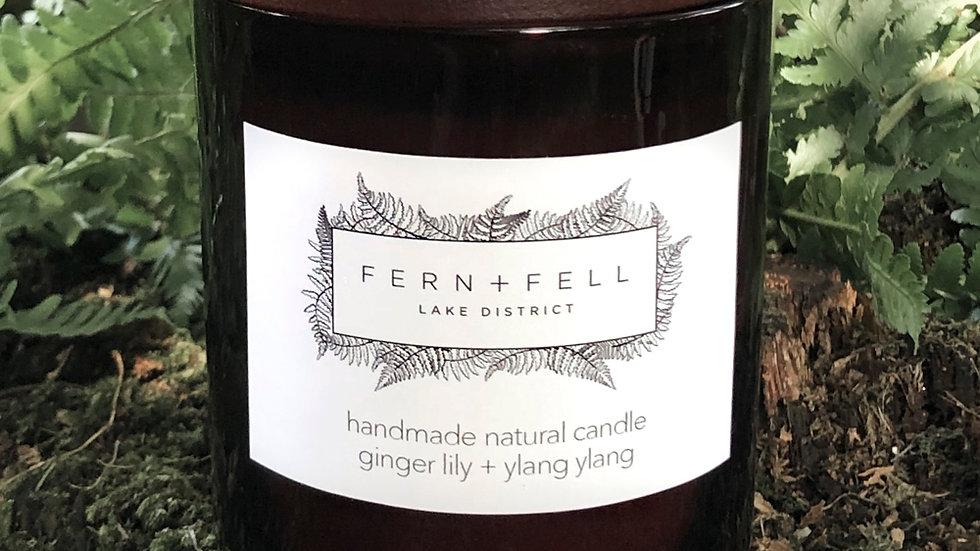 ginger lily + ylang ylang candle