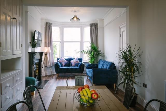 open plan living dining room