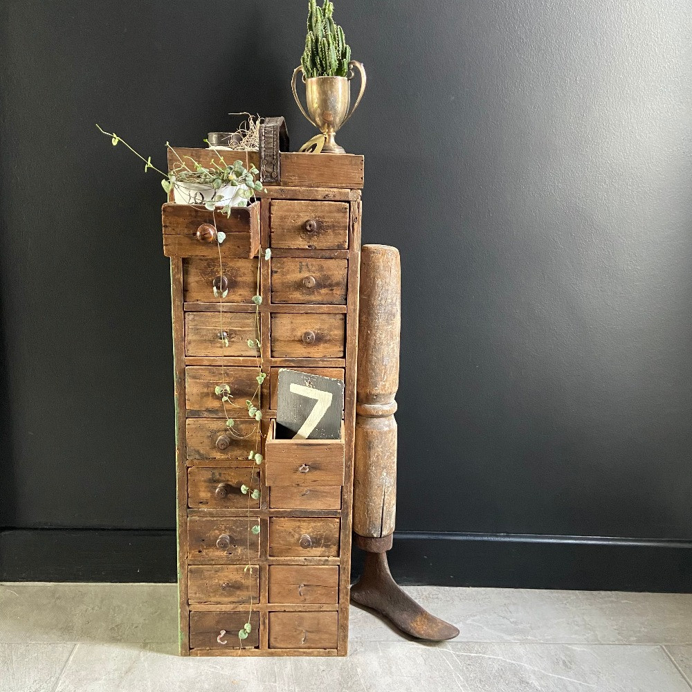 vintage wooden drawers scratch made