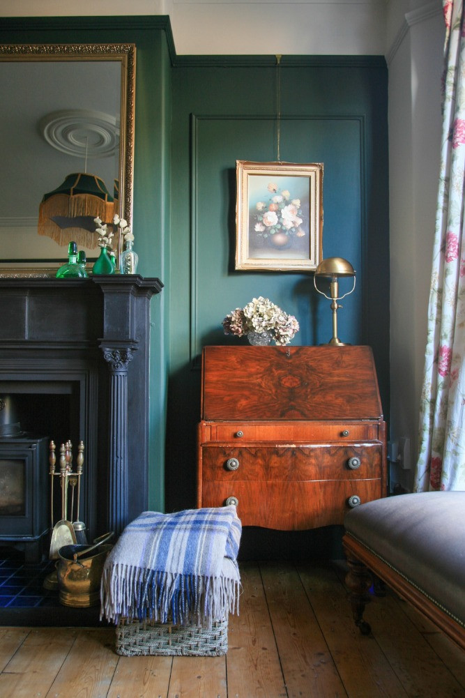 antique vintage bureau original fireplace victorian features