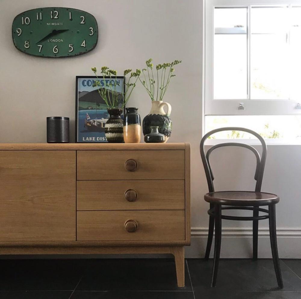 mid-century modern sideboard styling interiors inspiration