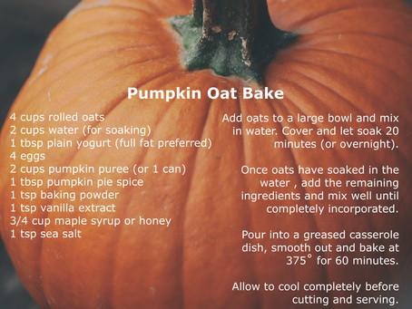 Pumpkin Oat Bake
