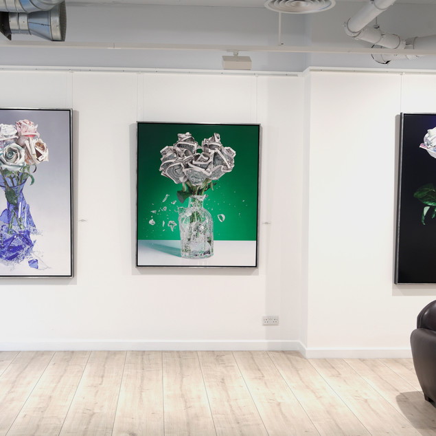 New paintings at Plus One Gallery.