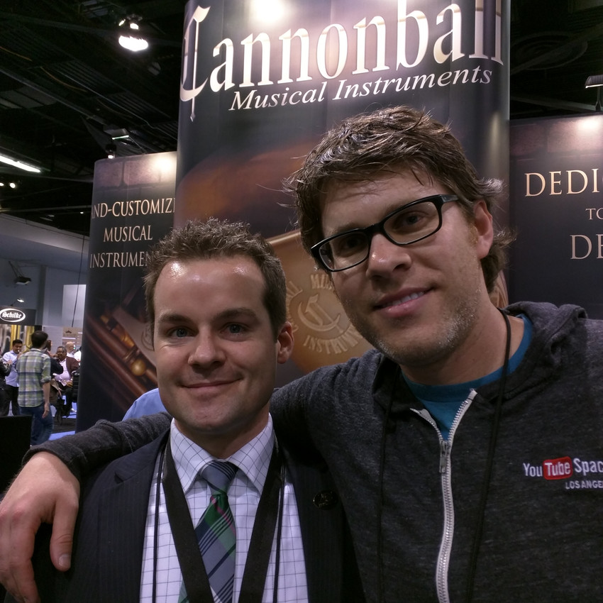 Me with Cannonball's Ryan Lillywhite
