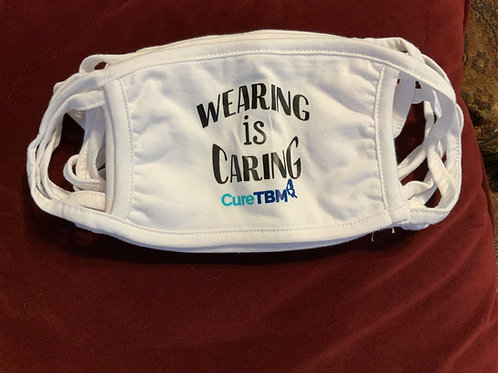 """Adult Size """"Wearing is Caring Mask""""   Triple ply cotton cotton mask."""