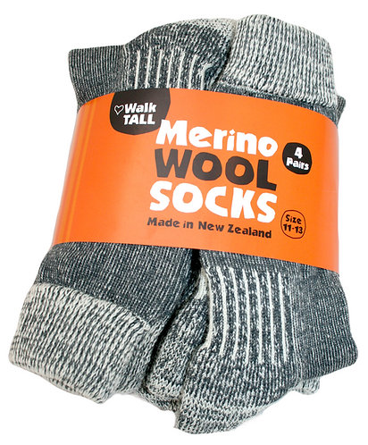 Merino All Season Sock - 4 Pairs