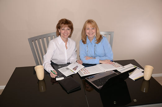 Mary Sperr and Laurie Enos, co-owners of Blue Lilac Marketing Group LLC