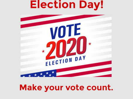 Today is Election Day! Make your vote count!