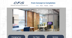 Contract Furniture Services website