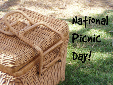It's National Picnic Day! Can't wait to actually have weather warm enough for a picnic!