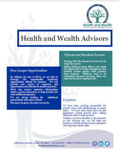 Health & Wealth Advisors flyer