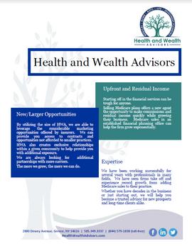 Health & Wealth Advisors flyer