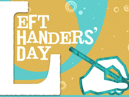 Today is Left-handers Day! Celebrate if you're a southpaw!