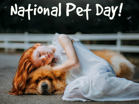 Today is National Pet Day! We love our pets!!