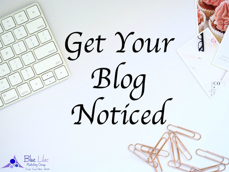 Get Your Blog Noticed