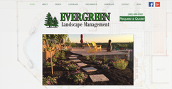 Evergreen Landscape Management website